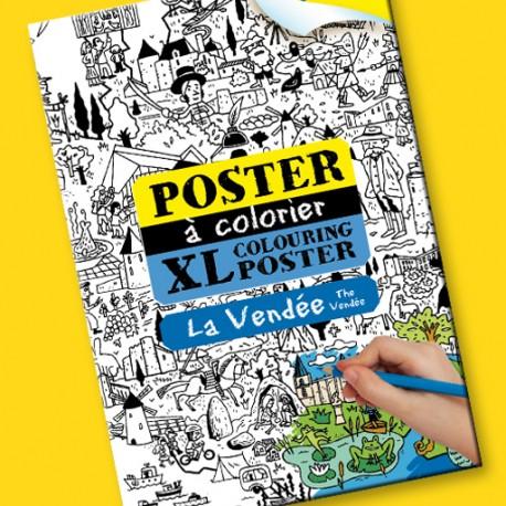 Poster à colorier La Vendée pour enfants