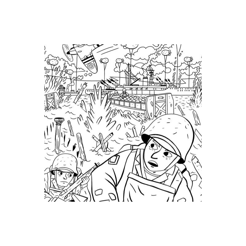 Poster à Colorier Le Débarquement Livres Et Jeux Pour Enfants