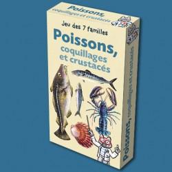 Jeu des 7 familles Poissons, coquillages et crustacés pour enfants