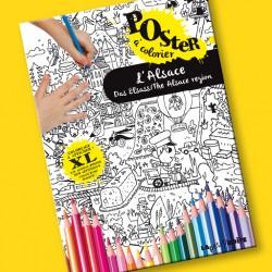 Poster à colorier L'Alsace