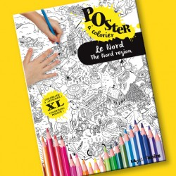 Poster à colorier Le Nord pour enfants