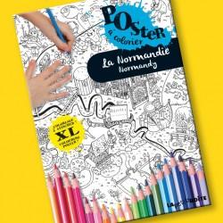 Poster à colorier La Normandie pour enfants
